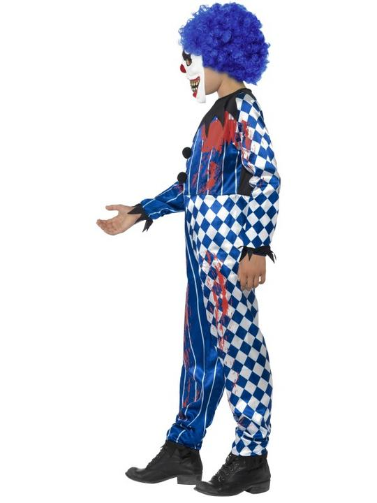 Kids Deluxe Sinister Circus Evil Clown Boys Halloween Fancy Dress Childs Costume Thumbnail 3
