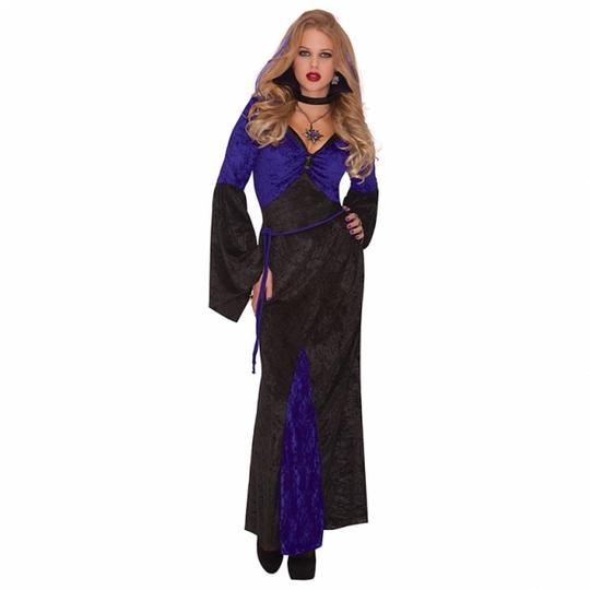 Adult Sexy Vampire Mistress Of Seduction Ladies Halloween Fancy Dress Costume  Thumbnail 1