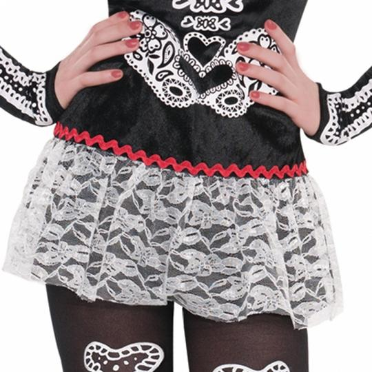 Teen Mexican Day Of The Dead Sassy Skeleton Girls Halloween Fancy Dress Costume Thumbnail 4