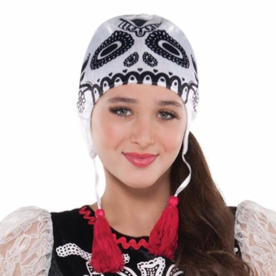Teen Mexican Day Of The Dead Sassy Skeleton Girls Halloween Fancy Dress Costume Thumbnail 2