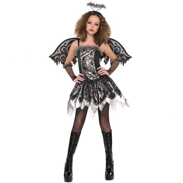 SALE! Teen Fallen Angel Girls Halloween Party Fancy Dress Childs Costume Outfit