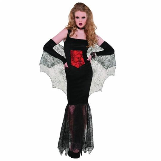 Adult Sexy Black Widow Seductress Witch Ladies Halloween Fancy Dress Costume  Thumbnail 1