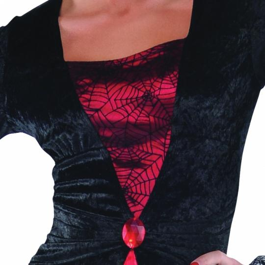 Adult Gothic Countess Vampiretta Ladies Halloween Fancy Dress Costume Outfit Thumbnail 3