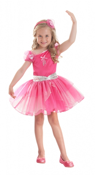 Barbie Ballerina Fuchsia Fancy Dress Costume  Thumbnail 1