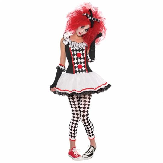 Adult Sexy Harlequin Honey Ladies Halloween Party Fancy Dress Costume Outfit Thumbnail 1