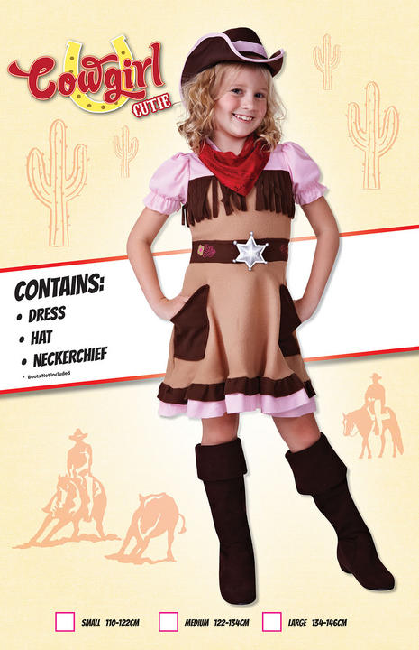 Cowgirl Cutie Fancy Dress Costume Thumbnail 1