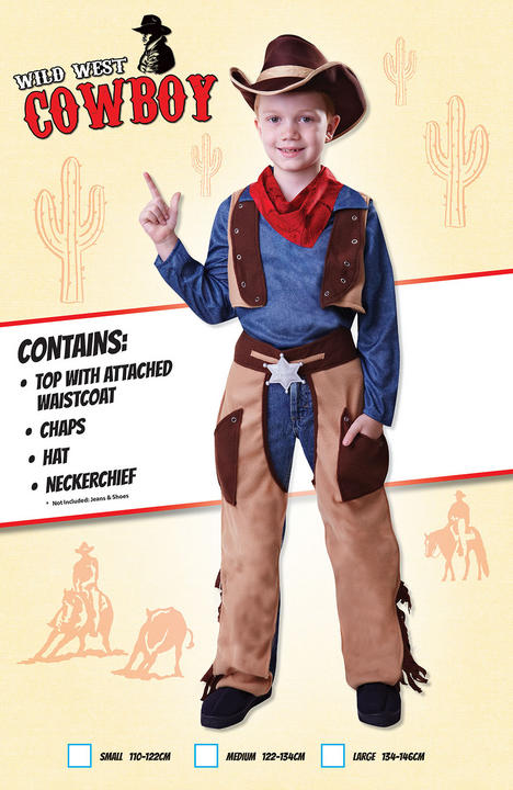 Cowboy Wild West Fancy Dress Costume Thumbnail 1