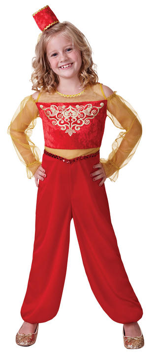 Girls Book Week Princess Aladdin Costume Kids Fancy Dress Outfit Thumbnail 1