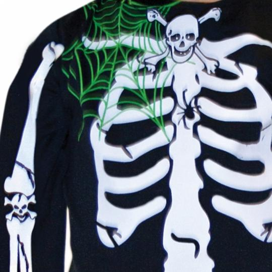 SALE Kids Skeleton Bones Boys Halloween Party Fancy Dress Toddler Costume Outfit Thumbnail 3