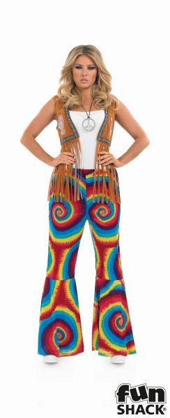 Hippie Tie dye flares Costume  Thumbnail 1