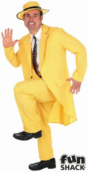 Yellow Suit  Fancy Dress Costume