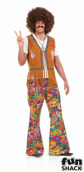 Psychedelic Trousers Fancy Dress Costume Thumbnail 1