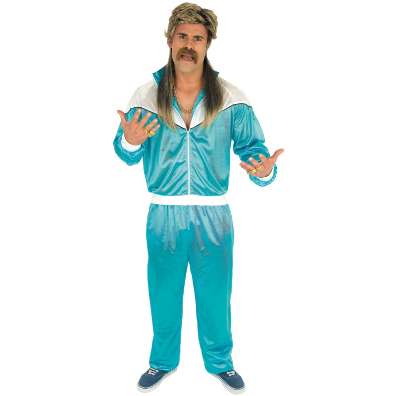 Blue Shell Suit Fancy Dress Costume