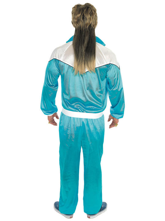 Blue Shell Suit Fancy Dress Costume  Thumbnail 2
