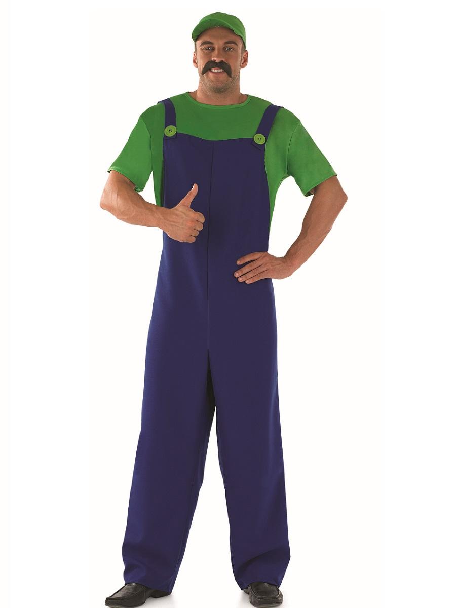 Green Plumbers Mate Fancy Dress Costume Thumbnail 1