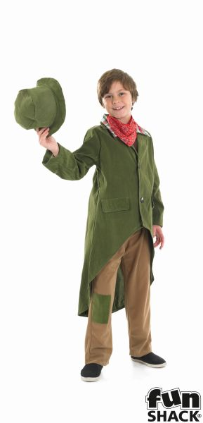 Boys Book Week Charles Dickens Dickensian Boy Costume Kids Fancy Dress Outfit