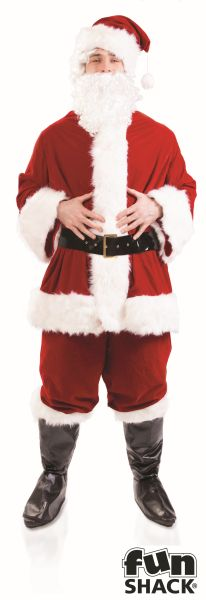 Deluxe Santa Suit Fancy Dress Costume Thumbnail 1