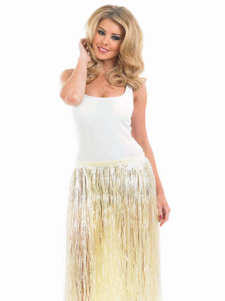 Women's Hawaiian Natural  Look Grass Skirt