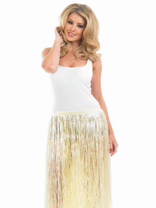 Women's Hawaiian Natural  Look Grass Skirt  Thumbnail 1