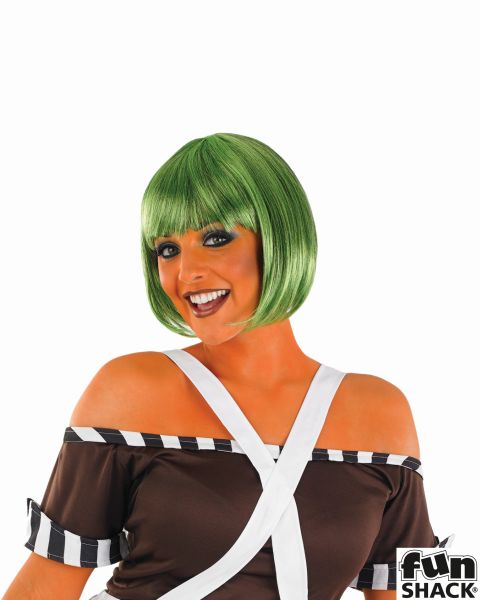 Womens Dark Green Bob Wig Thumbnail 1