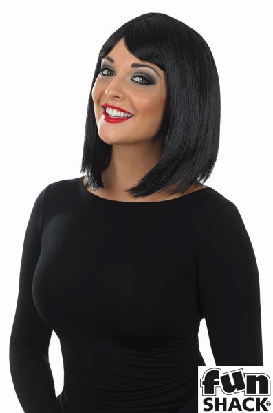Womens Straight Black Wig