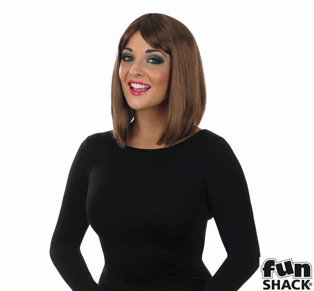 Womens Straight Brown Wig