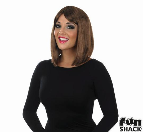 Womens Straight Brown Wig Thumbnail 1