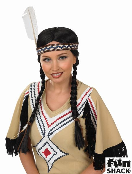 Womens Indian Squaw Wig Thumbnail 1