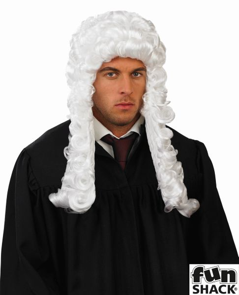 White Judges Wig Thumbnail 1