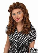Womens Brown Vintage Wig