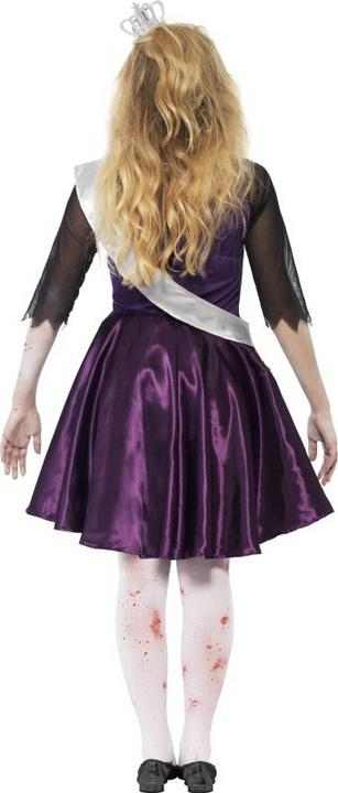 Teen Zombie High School Prom Queen Girls Halloween Fancy Dress Costume Outfit Thumbnail 2