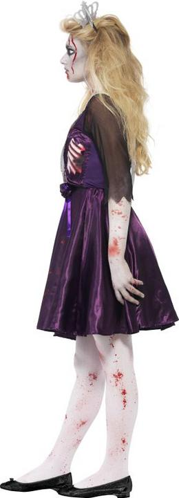 Teen Zombie High School Prom Queen Girls Halloween Fancy Dress Costume Outfit Thumbnail 3