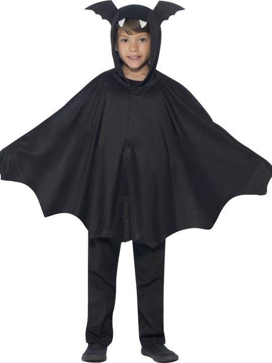 SALE Kids Spooky Black Bat Cape Girls / Boys Halloween Party Fancy Dress Costume Thumbnail 1