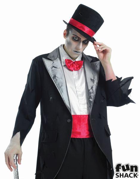 Men's Corpse Groom Fancy Dress Costume Thumbnail 1