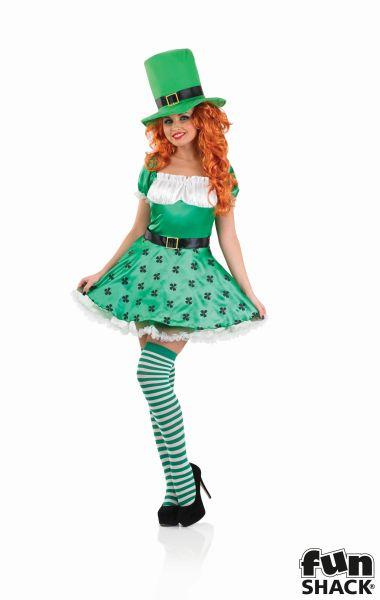 Sexy Leprechaun Fancy Dress Costume  Thumbnail 1
