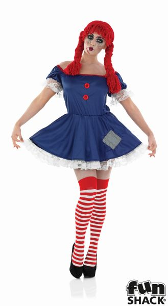 Women's Rag Doll Fancy Dress Costume  Thumbnail 2