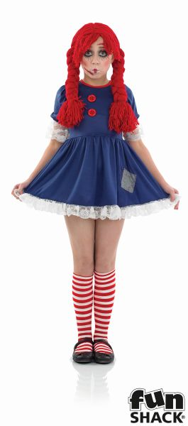Girl's Rag Doll Fancy Dress Costume  Thumbnail 2