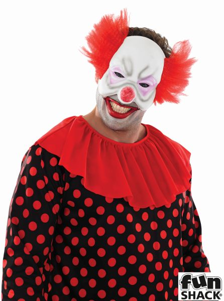 Adult Scary Zombie Circus Clown Mens Halloween Horror Fancy Dress Costume Outfit Thumbnail 2