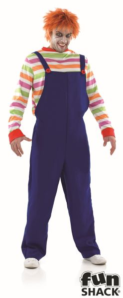 Men's Evil Doll Fancy Dress Costume  Thumbnail 2