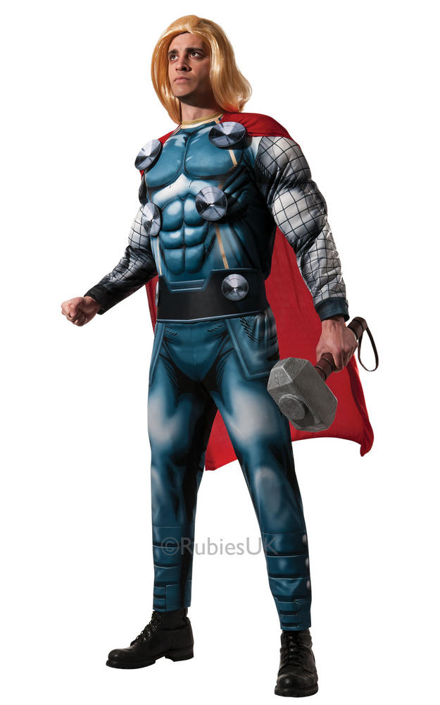 Mens Marvel Thor Deluxe Fancy Dress Costume