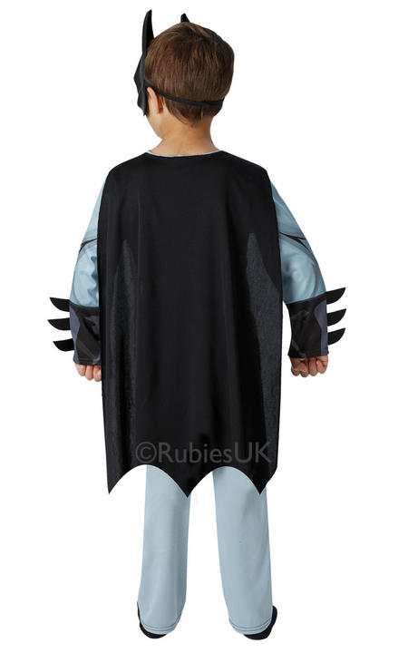Kids Classic Marvel Comic Book Superhero Batman Boys Fancy Dress Costume Outfit Thumbnail 2