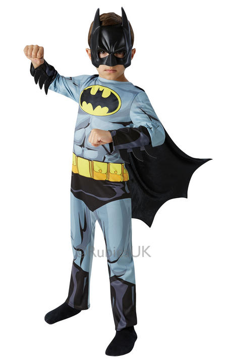 Kids Classic Marvel Comic Book Superhero Batman Boys Fancy Dress Costume Outfit Thumbnail 1