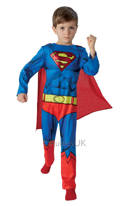 SALE! Kids Classic Marvel Comic Book Superhero Superman Boys Fancy Dress Costume Thumbnail 1