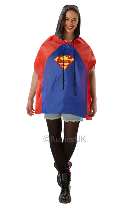 Adult Superman Festival Poncho  Thumbnail 1