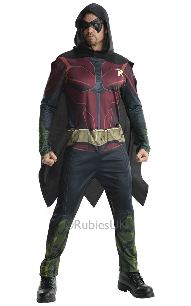 Adult Arkham Robin Fancy Dress Costume