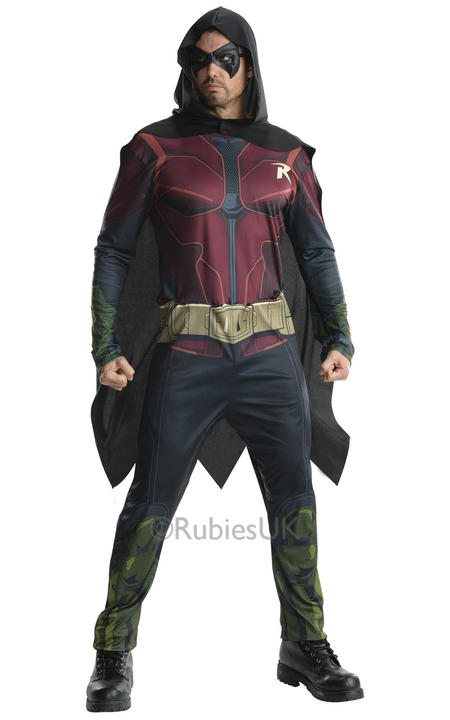 Adult Arkham Robin Fancy Dress Costume Thumbnail 1