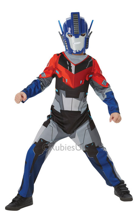 Kids Classic Transformers Optimus Prime Boys Fancy Dress Childs Costume Outfit Thumbnail 1