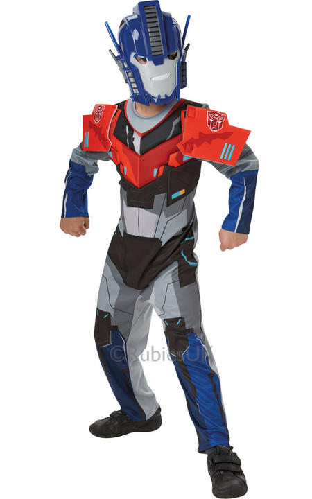 Kids Transformers Deluxe Optimus Prime Deluxe Fancy Dress Childs Costume Outfit Thumbnail 1
