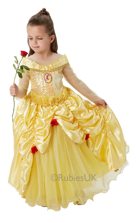 Disney Premium Belle fancy Dress Costume  Thumbnail 1
