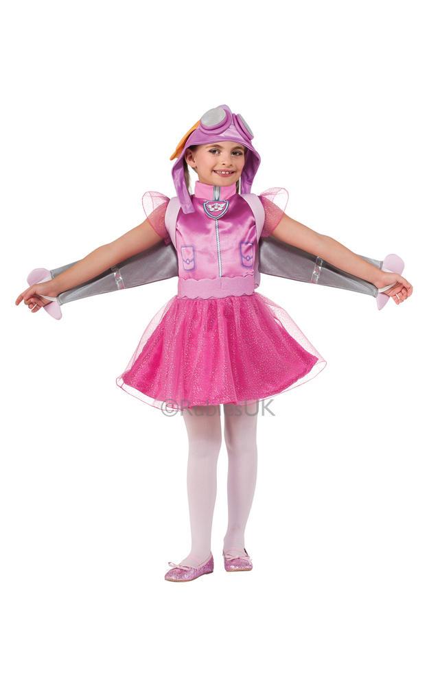 SALE Kids TV Cartoon Paw Patrol Dog Skye Girls Fancy Dress Childs Costume Outfit